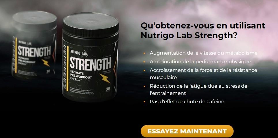 Nutrigo Lab Strength muscles puissants et endurants