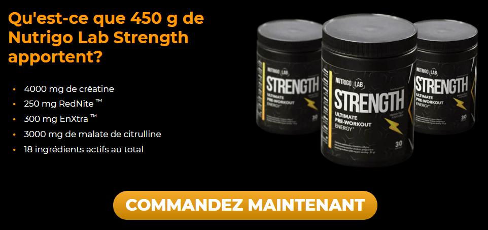 Nutrigo Lab Strength est un nutriment pour les athlètes professionnels